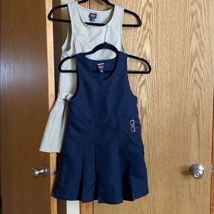 TWO French Toast School Uniform Jumper/Skirt Dress